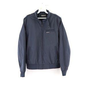 Vtg Members Only Mens Medium Spell Out Jacket Blue